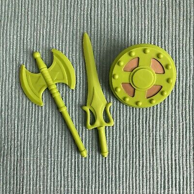 $14.99 • Buy MOTUC, Green Weapons, Masters Of The Universe Classics, Ax, Parts, Shield, Sword