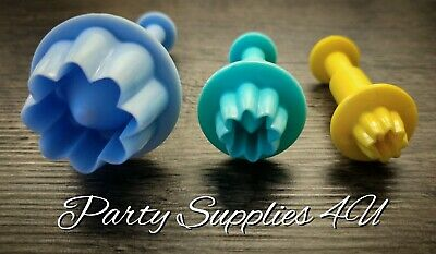 3pk Disney Plastic Flower Cutter Press/plunger. Cakes/biscuits/fondant/cookie • 3.99£