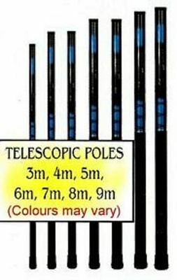 3 X 3m Fibreglass Telescopic Poles Whips Free P&p Uk Only • 28£