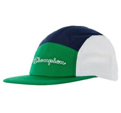 Champion Green, Navy, White Panel Cap, Unisex Adults, Brand New, Vintage Design • 14.95£