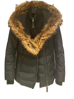 $315.88 • Buy Mackage Adali Black Down Coat Jacket With Fur Size SMALL SM GENUINE AUTHENTIC