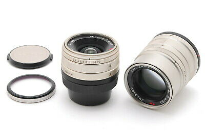 $ CDN632.99 • Buy 【MINT+++】Contax Carl Zeiss 28mm F/2.8 + 90mm F/2.8 T* G Lens From JAPAN