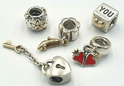 AU45 • Buy Pandora Ladies Silver And Gold Two Tone 5x Charms ALE 925 14ct