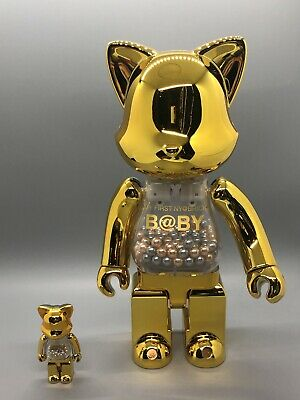 $413.99 • Buy My First Baby Gold Silver Nyabrick 100+400% Bearbrick RARE Medicom USSeller