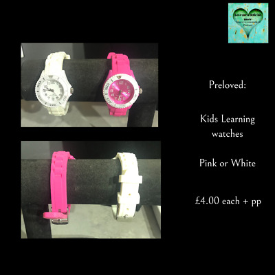 £4 • Buy Kids Learning Watch - Pink Or White