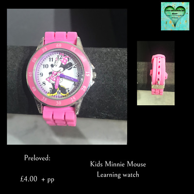£4 • Buy Minnie Mouse Learning Wrist Watch - Pink