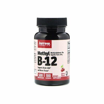 Vitamin B12 Methyl 500mcg (100 Lozenges) Methylcobalamin Jarrow Formulas • 13.62£