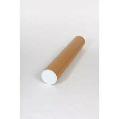 $10 • Buy Mailing Tubes With End Caps - 3  X 24 , .125  Kraft Tubes