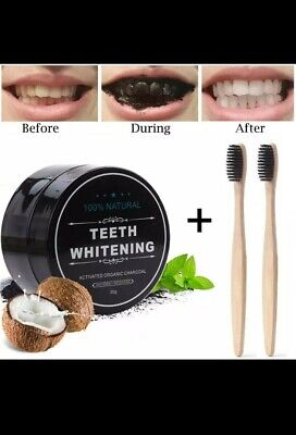 AU11 • Buy 100% Organic Coconut Activated Charcoal Natural Teeth Whitening Powder