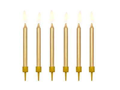 £1.99 • Buy Metallic GOLD Candles & Holders Birthday Party Cake Topper Decoration Pick