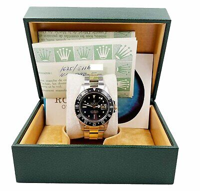 $ CDN26596.36 • Buy Rolex GMT Master 1675 Black Nipple Dial 14K Gold And Stainless 1978 Box Papers
