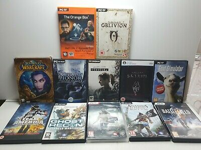 PC GAMES JOB LOT BUNDLE - 12 Mixture. WarCraft.Half-Life.Goat.Oblicion.Assasins • 23.99£