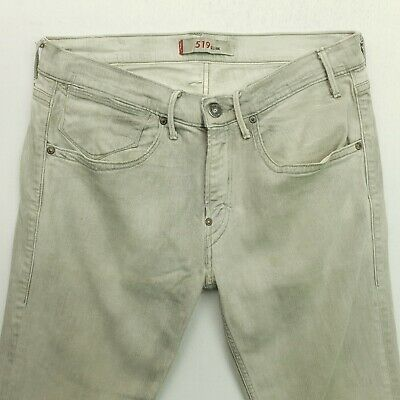 Levi's 519 Mens STRETCH Jeans W33 L32 Grey Slim Straight • 19£