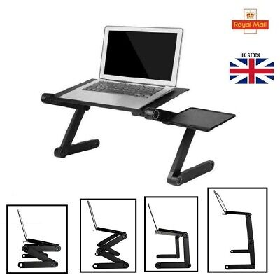 Adjustable Portable Laptop Stand Notebook PC Table Bed Lap Tray Foldable Desk • 13.55£