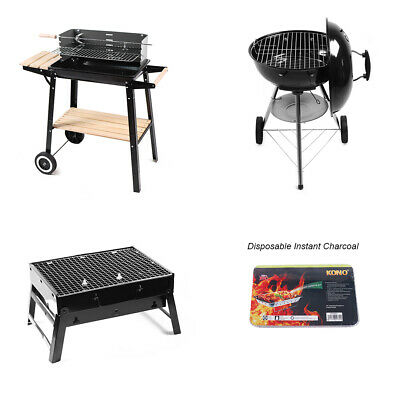 £11.99 • Buy BBQ Grill Patio Barbecue Steel Charcoal Cook Portable Outdoor Instant Charcoal