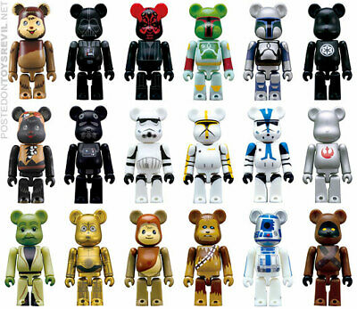 $39.99 • Buy MEDICOM TOY BEARBRICK STAR WARS X PEPSI NEX (2008) Complete Set Of 16 SHIP DHL