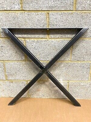 Industrial Rustic X Cross Legs, Bench Metal Office Desk Coffee Dining Table X 2 • 89.99£