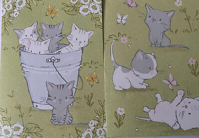 Kitten Home Made Pack Of 2 Blank Cards • 2.25£