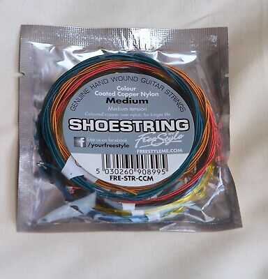 $ CDN6.90 • Buy Set  Medium   Nylon  , Colour Coated Copper    Guitar Strings  By Freestyle