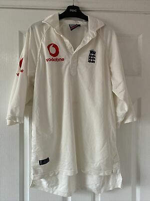 Rare Admiral England ECB Test Cricket Shirt - Size Medium  40-42  • 16£