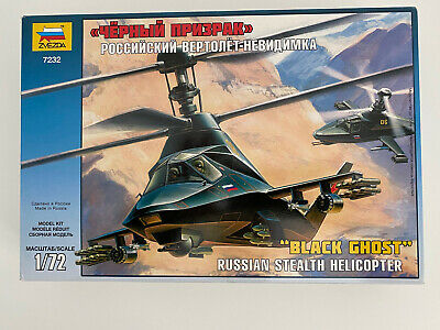 Zvezda Black Ghost Russian Stealth Helicopter 1/72 Model Kit • 25£