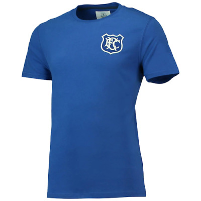 Everton Men's T-Shirt Fanatics Football Heritage Crest T-Shirt - Blue - New • 11.99£