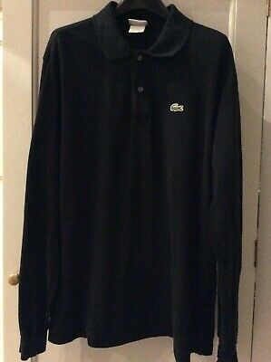 Lacoste Men's Black Long Sleeved Polo Shirt, Size 5 (M) • 8.50£