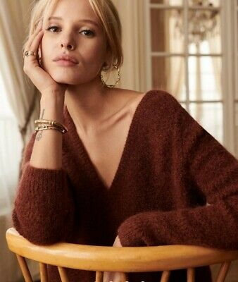 $ CDN113.97 • Buy SEZANE MOHAIR WOOL ARIEL JUMPER/ SWEATER, Brand New With Tag, Coffee, Size S.