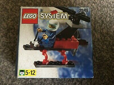 Small Lego Set - 2849 - Helicopter - COMPLETE With Instructions • 4.99£