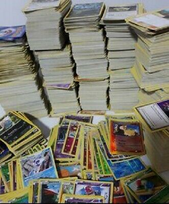 AU13 • Buy 100 Common + Uncommon + Rare Pokemon Bulk Cards Genuine