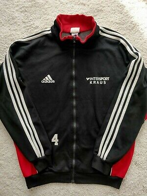 Adidas SC Altenmunster Germany 90's Track Top Jacket Football Soccer Red Black • 21.23£