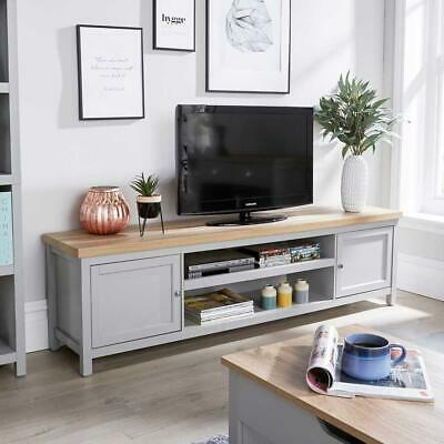 £149.99 • Buy Extra Large 180cm Grey Oak TV Stand 1 Drawer Cabinet Television Unit Cable Tidy