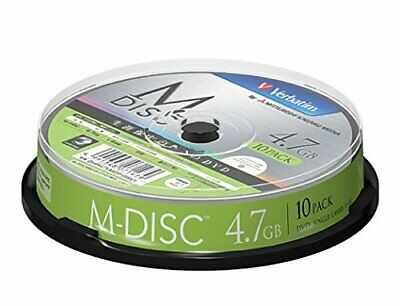 $79.79 • Buy DVD M-DISC For IO Data Data 4.7GB 1-4x Speed Spindle 10P For One-time Recording