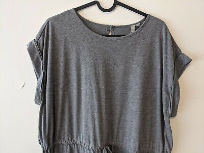 AU11 • Buy Women's ASOS Grey Jersey Drawstring Waist Dress Size 18