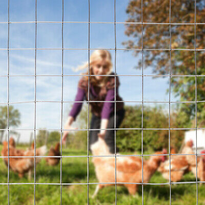 Metal Roll Wire Mesh Chicken Run Fencing Crop Protection Net Garden Border Fence • 32.95£