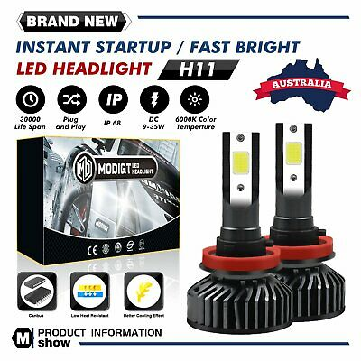 AU24.09 • Buy H11 H8 H9 LED Car Headlights Bulbs Globes 200W Super Bright High Low Beam Lamp
