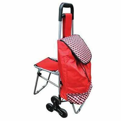 £26.39 • Buy Mobility Shopping Trolley With Fold Down Seat