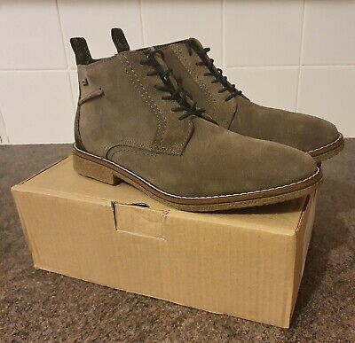 Men's Pavers Charcoal Grey Suede Boots UK7 - Worn Once With Box - RRP £79.99 • 40£