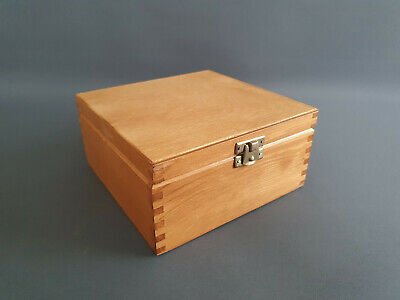 GOLD Pine Wood Handmade 4 Compartments Storage Box Decoration Chest • 3.74£