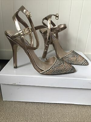 Steve Madden Pewter-synthetic Pointed Two-part Ladies Court Shoes Size 5 • 6.40£