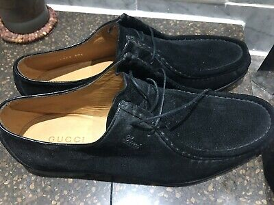 AU169.14 • Buy Gucci Mens Black Suede Shoes New Without Box