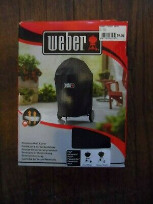 $ CDN106.11 • Buy Weber 7143 Premium Grill BBQ Cover  Fits 57cm Charcoal Brand New