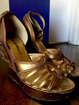 Terry De Havilland Shoes. Bronze Leather. Size 7 UK • 120£