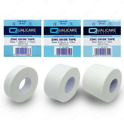 Zinc Oxide White Tape Roll | Medical Injury Fitness Strapping Sports Binding • 7.91£
