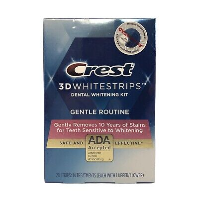 AU30.35 • Buy Crest 3D White Gentle Routine  Dental Teeth Whitening 28 Strips Kit Exp-03/2021