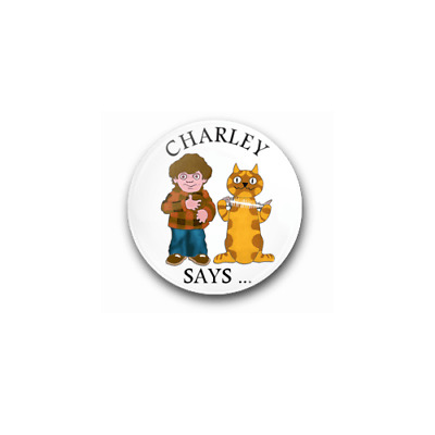 £0.99 • Buy CHARLEY SAYS - 25mm Button Badge - Child Safety No Strangers Public Information