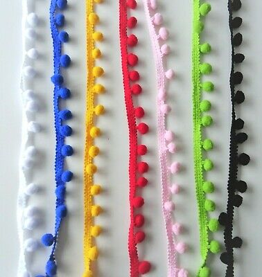 Pompom Trim, 10mm Bobble Trim Available In Assorted Colours, PomPom Braid • 1.55£