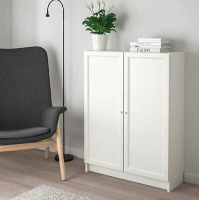 New In Boxes Ikea White Billy Bookcase With Oxberg Doors 106cm X 80cm X 30cm • 44.99£