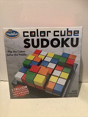 Think Fun Colour Cube Sudoku 3D Puzzle By Thinkfun/ Ravens Burger.Age 8+ • 10£