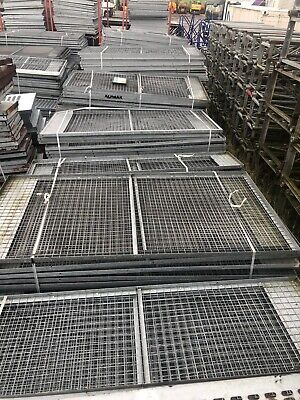 Galvanised Wire Mesh Panels In Frame - 2.45m X 1.25m • 40£